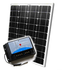 AKT Solar Battery Charging Kit 50W panel + Charge Controller